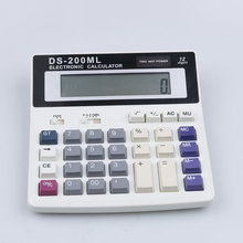 DS-200ML Office Usage Multi-function Electronic Calculator Large Keys Dual Power Computer 12 Digits Counting Number LED Display