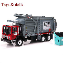 NEW Arrival 1/43 Scale Diecast Material Transporter Truck Vehicle Orange/Red/Blue Car Model Toys With box kids gift brinquedo