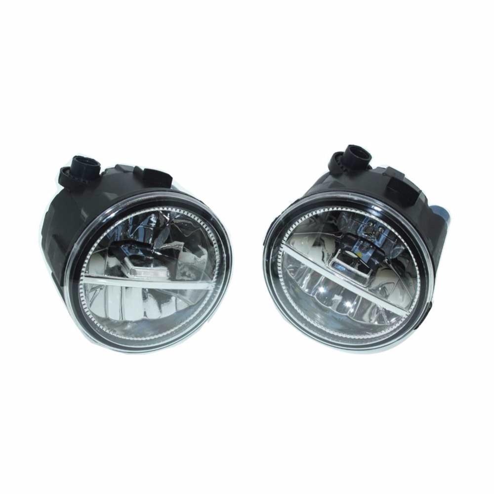 2PCS For NISSAN TIIDA Hatchback C11x 2007-2008 2009 2010 2011 2012  Front Fumper LED fog lights Car styling H11 drl led lamps<br>