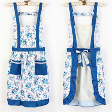 Guaranteed 100% aprons for woman tablier peinture Aprons floral apron Women Lady Dress with Pocket Cooking Cotton Apron