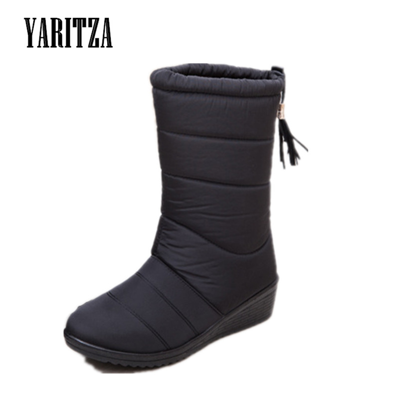 YARITZA 2017 autumn winter casual snow boots waterproof women boots thermal flat slip-resistant fashion winter shoes woman<br><br>Aliexpress