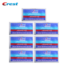 Crest 7 Pouches /14 Strips for 7 Days 3D Advanced SEAL Vivid Whitestrips Teeth White LUXE Whitening Strips ( In bulk /No boxes )(China)
