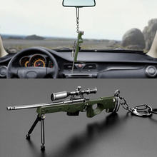 Metal Toy Gun Weapon Models Car Hanging Pendant For Playerunknowns Battlegrounds Auto Rearview Mirror Decoration Ornaments Gifts(China)