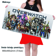 XL 900*400 Notbook Computer Mousepad Super Big Rubber Gaming Mouse Pads Mats for Overwatch Mouse Pad Game Player Free Shipping(China)