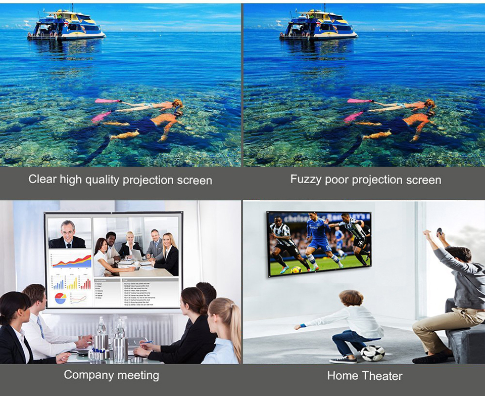 120 Inch Simple Projection Screen-5