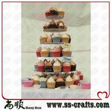 6 Tier Round Acrylic Cake Stand For Wedding Perspex Cupcake Display Stand party decoration