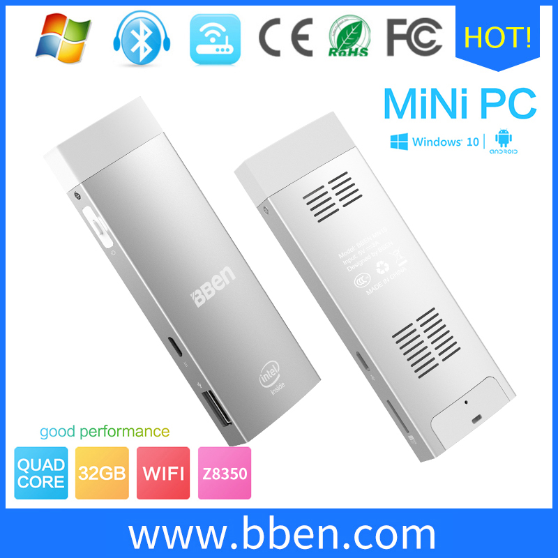 Bben Mini PC Windows 10 &amp; Android 5.1 dual OS stick pc windows  Z8350 CPU 2GB/32GB HDMI WiFi Bluetooth4.0 mini pc hdmi computer<br><br>Aliexpress
