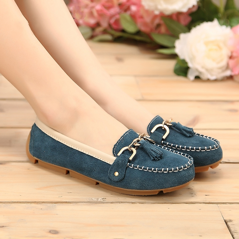 2017 spring women Loafers shoes womens genuine leather shoes maternity single shoes woman moccasins ballerina flats 006<br><br>Aliexpress