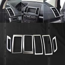FIT FOR 2012 2013 2014 2015 2016 LAND ROVER FREELANDER 2 LR2 CHROME DASHBOARD AIR VENT TRIM COVER GARNISH SURROUND ACCESSORIES