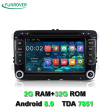 Funrover 2din 7 Car DVD player VW JETTA rns510/PASSAT B6/GOLF 5/6 CC POLO Tiguan Touran Caddy SEAT com Wifi GPS CANBUS Controle(China)