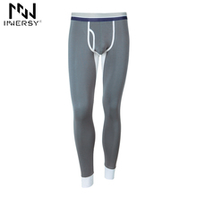 Innersy 2017 Brand Long johns Autumn Underwear winter Mens Underwear Tight Pants Modal Homewear Thin Trousers Warm Long johns(China)