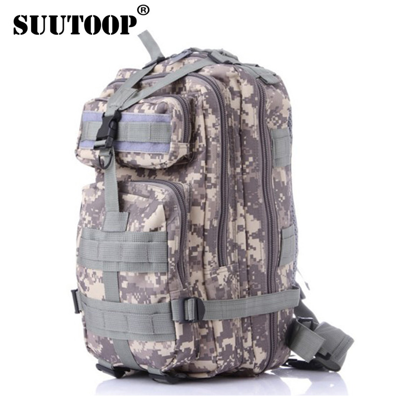suutoop Men Women Military Army Backpack Trekking Camouflage rucksacks sac a dos casual ACU Green Black rugzak german french bag(China (Mainland))