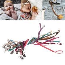 Buy Baby Leather Pacifier Clips Soother Chain Dummy Clip Soother Nipple Leash Strap Jan25 -B116 for $1.15 in AliExpress store