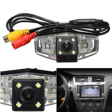 Wire Wireless Night Vision Car Rear view Backup Reverse Camera with 4 LED For Honda Accord 8 / CITY / Odyssey(China)