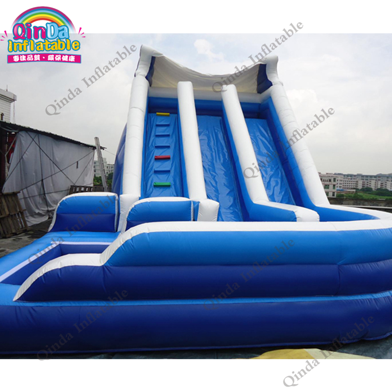 inflatable water slide with pool241