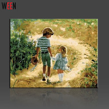 Children Wall Pictures Painting By Numbers DIY HandPainted Canvas Arts Kit For Home Gift For Kids Pictures Coloring By Numbers