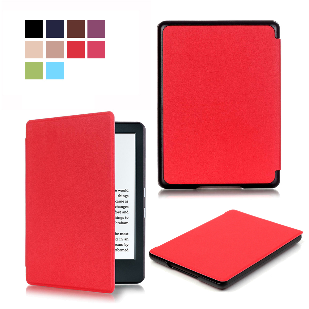 For New kindle 2016 8th generation ebook PU leather Smart Cover Case For 2016 new kindle 8th Case+Film+Stylus Pen(China)