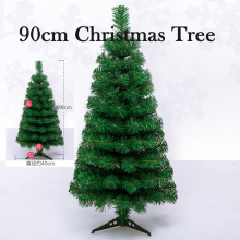 90cm china Plastic Christmas Tree Artificial Tree Decoration Christmas Gift Ornament Home Decor Celebrate Party Supplies