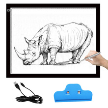VONETS A3 Portable LED Drawing Board Touch Dimmable Tracing Table Light Pad Box with Clip for 2D Animation Sketching Gadgets(China)