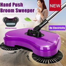 Spin Home Hand Push Broom Household Floor Dust Cleaning Cleaner Sweeper Mop colorful Brooms(China)