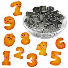 9pcs/set Metal Cookie Cutters of 0-9 Numbers Series Stainless Steel Tools Home Furnishing Products Kitchen Supplies Baking Mold