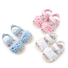 2019) 저 (Low) 가격 감량 Sale18Baby 꽃 샌들 슈 Casual Shoes Sneaker Anti-slip Soft 솔 유아 Shoes Baby Shoes(China)