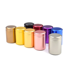 Mini Teabox Porable Titanium alloy Tea box Travel Outdoor Sealed Jar Cans Gifts 6.5*4.5cm