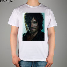 Daryl Dixion The Walking Dead T-shirt Top Lycra Cotton Men T shirt New Design High Quality