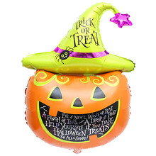 New Halloween pumpkin head Decorative Foil Balloons Halloween Clothing Scary Costumes Bat wings Decorative Foil Balloon Hot Sale(China)
