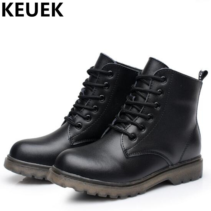 NEW Autumn/Winter Children Boots Boys Genuine Leather Motorcycle boots Girls Snow Boots Baby Ankle Boots Kids Shoes 04