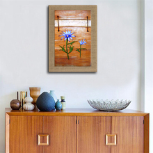 100% Hand-painted Famous Oil Painting High Quality Modern Abstract Wood Block Flower Painting For Living Room Paintings(China)