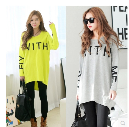 Increase Cotton Long-sleeved T-shirt Autumn and Winter Maternity Pregnant Women<br>