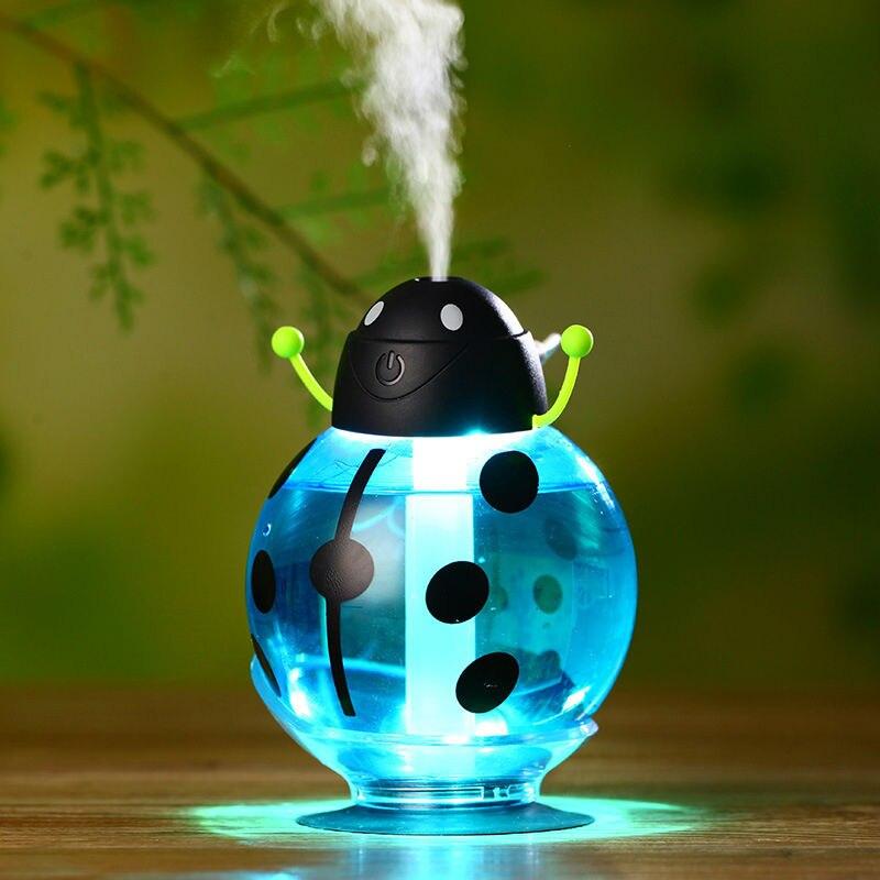 Small ladybug car usb Humidifier incubator diffuser led Mini Air Humidifier Air Diffuser Portable Water Aroma Mist Maker<br><br>Aliexpress