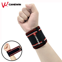 1 Pair Bandage Wristband Wrist Support Protect CAMEWIN Brand High Elasticity Sports Bracers Basketball Sports Wrist Protection