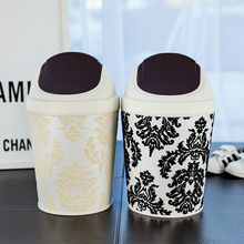 European Style Waste Bins Home Bathroom Kitchen Living Room Fashion Creative Trash Can(China)