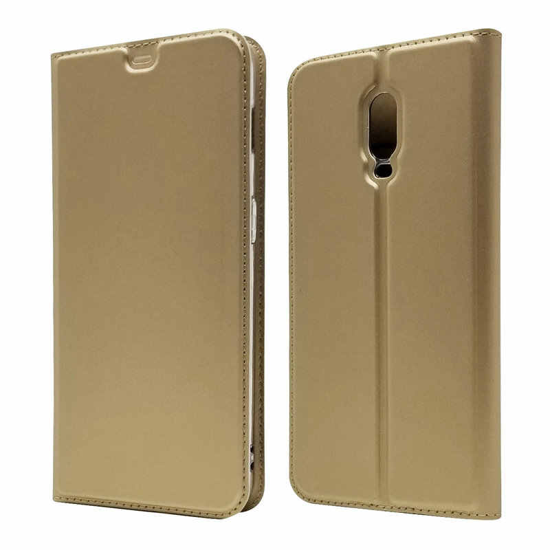 1pcs Ultra thin Business Card Slot Stand PU Leather Flip Case Coque For Oneplus 6T