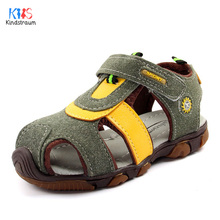 2017 New Summer Boys Flock Sandals Top Quality Kids Casual Rubber Soft Sole Beach Sandals Children Baby Size 23-35, EJ122