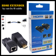 HDMI RJ45 CAT5E CAT6 UTP LAN Ethernet HDMI Extender Repeater 1080P Hard Plastic HDMI To RJ45 Network Cable Extender For HDTV(China)