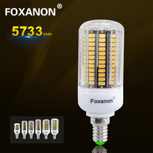Foxanon Full Watt 3W 4W 5W 7W 8W 10W LED Light E14 220V Corn Lamp 5733 Chip Lampada Equal to CFL 7W 12W 18W 22W 25W 35W Bulb