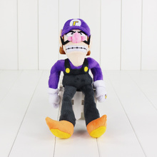 27cm TraVelMall New Super Mario Bros Waluigi Plush Toys Rare Toy Anime Manga Soft Dolls Toys For Kids Gift(China)