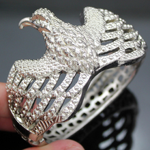 Western Silver Eagle Magnetic Hinged Filigree Zuni Navajo Bracelet Bangle Cuff Jewelry 2017 New