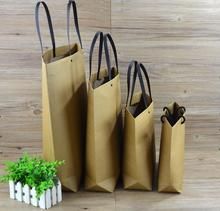 Alice12-1, Brown Kraft Paper Gift Bag Wedding present Packaging Recyclable Jewelry/Clothes/Scarf Shopping Party Bags