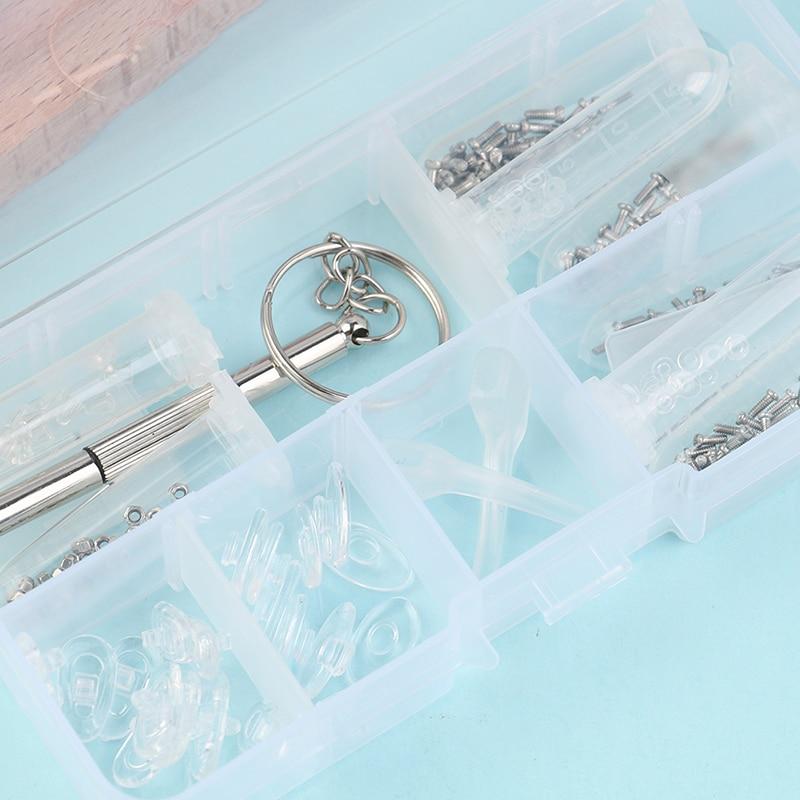 Repair Screws Tool Box Eyeglass Nose Pad Optical Glasses Repair Kit Sunglasses Screw Nut Assortment Set