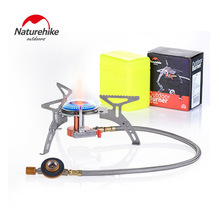 High Quality Portable Outdoor Folding Gas Stove Camping Hiking Picnic Stove Camping Stove Split Burner Stainless steel(China)
