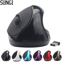Hot Sale Optical Wireless Mouse Healthy Ergonomic Mouse 6 Buttons With DPI Switch Vertical Mouse For Computer PC laptop
