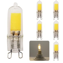 5Piece New LED Bulb G9 COB LED 220V/230V/240V 9W High Power Tube Clear Glass G9 Halogen-shape LED Warm White/Cold White(China)