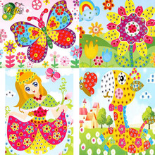 DIY 5D Diamond Painting Puzzle Game Fish Butterfly Girl Embroidery Children Diamond Painting Handmade Creative 26*19cm