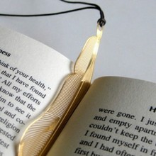 business gift stationery wholesale Korea feather creative lanyard hollow metal bookmark custom 5*10.3cm 1 pieces(China)