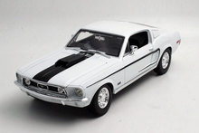 Brand New MAISTO 1/18 Scale Car Model Toys USA 1968 Ford Mustang GT Cobra Jet Diecast Metal Car Model Toy For Collection/Gift