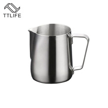 TTLIFE 100ML/150ML/200ML Stainless Steel Milk Pitcher Suitable for Coffee, Latte & Frothing Milk